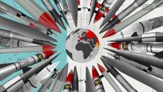 根据斯德哥尔摩和平研究所最近的估计,俄罗斯约有6375个核弹头,美国有5800个,中国只有320个