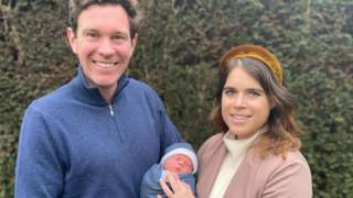 Princess Eugenie and Jack Brooksbank with their son