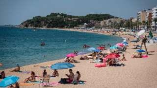 View of Lloret de Mar beach, Spain