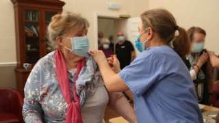 Nursing home residents in Shropshire receive the vaccine