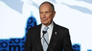 Mike Bloomberg at a rally on in Salt Lake City, Utah, on 20 February 2020
