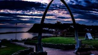 Sunrise over Whitby in Yorkshire