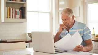 Elderly man worried by finances