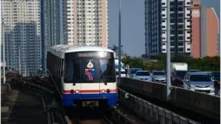 รถไฟฟ้าเปิดให้บริการตามปกติในช่วงการแพร่ระบาดของโรคโควิด-19