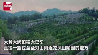 An clip of the cemetery in Chongqing that the tour group visited
