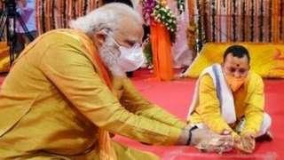 अयोध्या में नरेंद्र मोदी