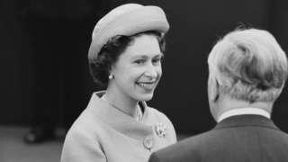 Harold Wilson meets the Queen at Waterloo station in 1965