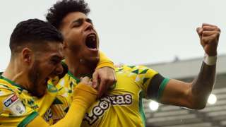 Norwich City celebrate