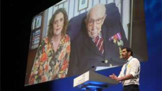Captain Tom Moore and his daughter Hannah Ingram-Moore