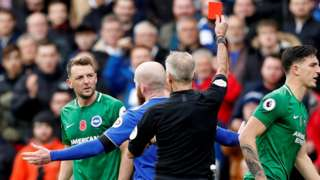 Dale Stephens is sent off