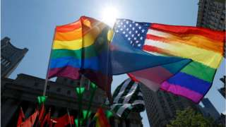 pride and US flags