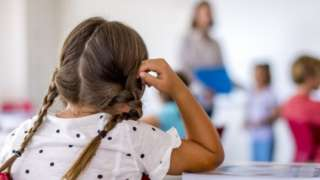 Child in class - library picture