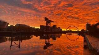 Red sky, Glasgow