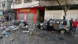 Damage in Gaza City