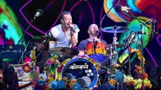Coldplay perform at Glastonbury festival