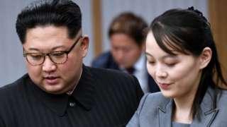 Kim Jong-un and Kim Yo-jong