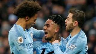 Gabriel Jesus celebrates goal