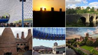 Composite image of West Midlands landmarks