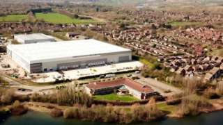 Drone picture of the Blakelands warehouse