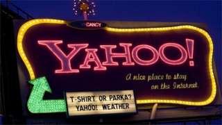 Yahoo neon sign