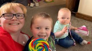 Samantha Bruce with her two young boys