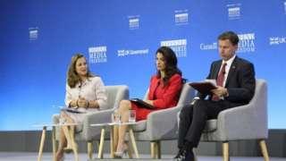 Chrystia Freeland, Amal Clooney ve Jeremy Hunt