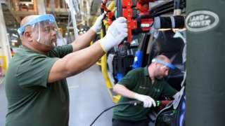 Jaguar Land Rover workers
