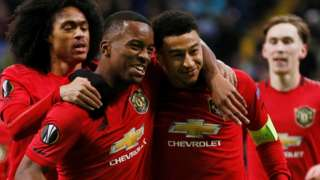 Jesse Lingard (right) celebrates scoring