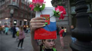 Акция в Санкт-Петербурге против внесения поправок в Конституцию