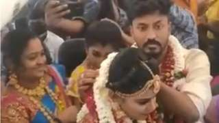 Indian airplane wedding