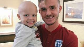 Sophie Taylor with James maddison