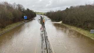 Flooding on the M23