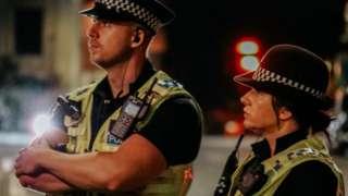 Officers on patrol in Swindon in September