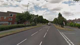 Junction of Penmore Close and Hasland Road in Chesterfield, Derbyshire