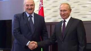 Putin y Lukashenko.