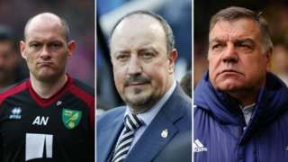 Left to right: Alex Neil, Rafael Benitez, Sam Allardyce