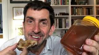 Justin Rowlatt eats toast and revenge honey