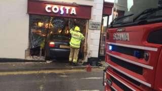 Costa coffee car crash