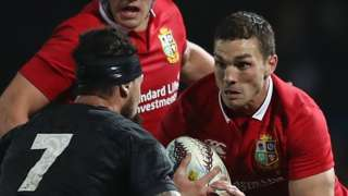 George North takes on New Zealand Maori