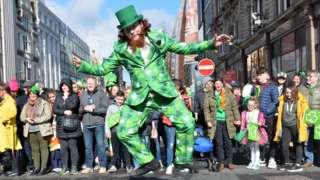 St Patrick's Day in Belfast in 2019