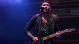 James Arthur performing at day one of V Festival