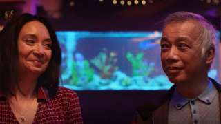 In one of the campaign ads, a couple is seen exchanging WhatsApp messages while at dinner with talkative friends