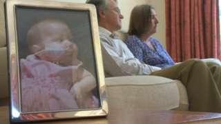 Parents sat with picture of Elizabeth Dixon