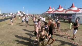 Festival-goers scrambled as the event gets shut down