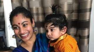Poorna Kaameshwari Sivaraj, 36, and her son Kailash Kuha Raj