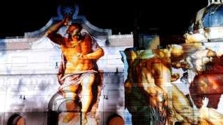 Aworann ọjọ idajọ ni Piazza del Popolo, ni Rome
