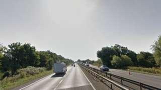 A14 at Godmanchester