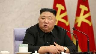 North Korean leader Kim Jong-un in Pyongyang, North Korea, 10 February 2021