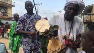 Oro priest during di Oro festival for Ikorodu