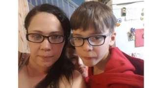 Stacey Greenough and son Dominic Junior